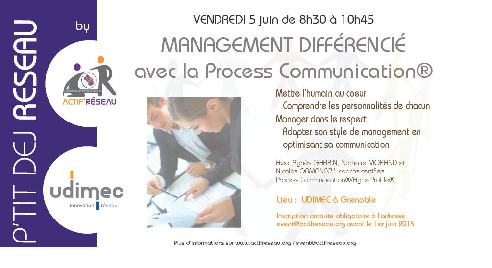Atelier Management différencié grâce à la Process Communication – 5 juin 2015
