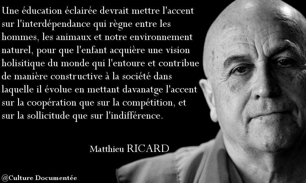 Citation Mathieu RICARD