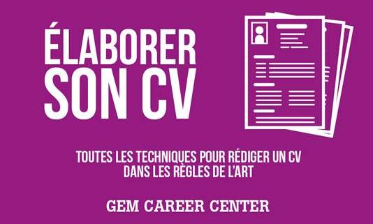 """Atelier """"Elaborer son  CV"""" – 12 novembre 2015"""